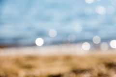 Abstrakcjonistyczna błękitna plama seashore Obrazy Royalty Free