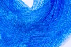 Abstrakcjonistyczna błękitna ręka rysujący akrylowego obrazu sztuki kreatywnie backgroun Zdjęcia Royalty Free