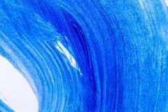 Abstrakcjonistyczna błękitna ręka rysujący akrylowego obrazu sztuki kreatywnie backgroun Zdjęcie Stock