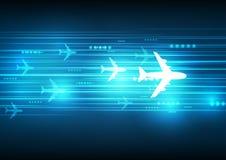 Abstrakcjonistyczna Błękitna samolot technologia ilustracja wektor