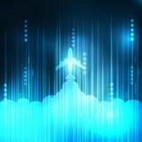 Abstrakcjonistyczna Błękitna samolot technologia ilustracji