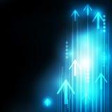 Abstrakcjonistyczna Błękitna strzała technologia komunikuje tło ilustracja wektor