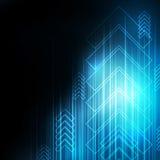 Abstrakcjonistyczna Błękitna strzała technologia komunikuje tło, ilustracja ilustracja wektor