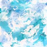 Abstrakcjonistyczna błękitna tło mozaika Obrazy Stock