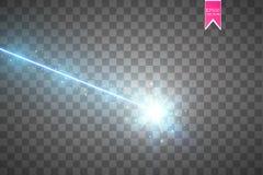 Abstrakcjonistyczna błękitna wiązka laserowa Odizolowywający na przejrzystym czarnym tle Wektorowa ilustracja, Zdjęcie Royalty Free