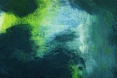 Abstrakcjonistyczna błękitna, zielona i biała tekstura Obraz Stock
