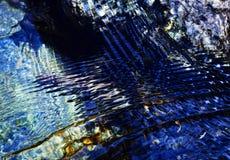 Abstrakcjonistyczna błękitne wody powierzchnia z fala Zdjęcia Stock
