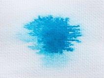 abstrakcjonistyczna błękitny akwarela Fotografia Royalty Free