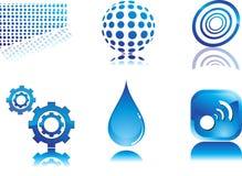 abstrakcjonistyczna błękitny ikona Fotografia Royalty Free