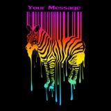 abstrakcjonistyczna barcode sylwetki zebra ilustracja wektor