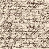 Abstrakcjonistyczna bezszwowa ręka pisze wzorze royalty ilustracja