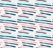 Abstrakcjonistyczna bezszwowa ręka rysujący wzór grunge nowoczesnej konsystencja Kolorowy muśnięcie malujący tło Tekstura z ilustracja wektor