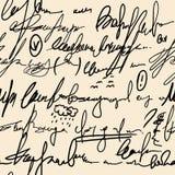 Abstrakcjonistyczna bezszwowa ręka pisze wzorze Zdjęcia Royalty Free