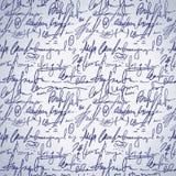 Abstrakcjonistyczna bezszwowa ręka pisze wzorze Obraz Royalty Free