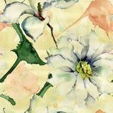 Abstrakcjonistyczna bezszwowa tapeta z kwiatami royalty ilustracja