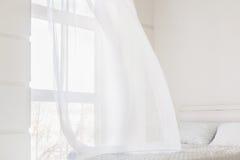 Abstrakcjonistyczna biała falowanie zasłona obraz royalty free