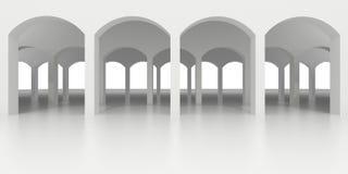 Abstrakcjonistyczna biała klasyczna arkada z kilka rzędami łuki ilustracja wektor