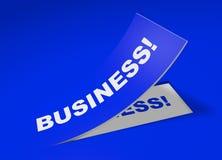 Abstrakcjonistyczna biznesowa etykietka Zdjęcie Royalty Free