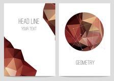 Abstrakcjonistyczna broszurka i ulotki w poligonalnym stylu ilustracji