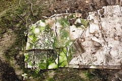 Abstrakcjonistyczna budynku gnicia tekstura fotografia stock