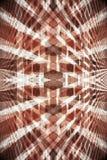 abstrakcjonistyczna ceglanej czerwieni ściana Obraz Royalty Free