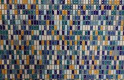 Abstrakcjonistyczna ceramiczna mozaiki ściana fotografia stock