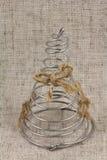 Abstrakcjonistyczna choinka robić drut Obrazy Royalty Free