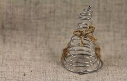 Abstrakcjonistyczna choinka robić drut Zdjęcia Royalty Free