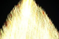 Abstrakcjonistyczna choinka w złotym lekkim ruchu 2 Obrazy Stock