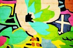 abstrakcjonistyczna ściana Zdjęcia Royalty Free