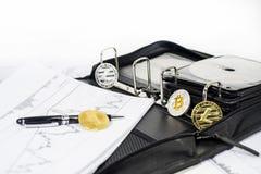 Abstrakcjonistyczna cryptocurrency fotografia zdjęcie stock