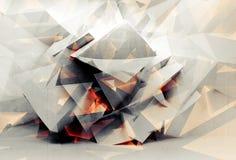 Abstrakcjonistyczna cyfrowa 3d tła chaotyczna poligonalna tekstura royalty ilustracja