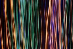 Abstrakcjonistyczna cyfrowa fala rozjarzony cząsteczek i racy obiektywu lekki skutek Zdjęcie Royalty Free