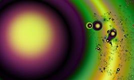 Abstrakcjonistyczna cyfrowa grafika opuszcza ciecz Fractal grafika technika ilustracji