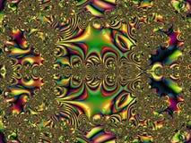 Abstrakcjonistyczna cyfrowa grafika Podlegli ciecze i metal royalty ilustracja
