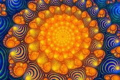 Abstrakcjonistyczna cyfrowa grafika Wzory natura Magii skorupy ilustracja wektor