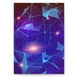 Abstrakcjonistyczna cyfrowa pokrywa z wzorem reprezentuje globalną interakcję plexus Pojęcie globalna sieć dla ilustracji