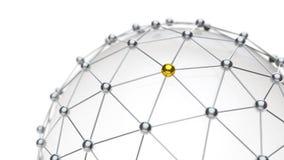 Abstrakcjonistyczna Cyfrowej sieci komunikacja Zdjęcie Stock