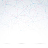 Abstrakcjonistyczna cząsteczkowa tło abstrakcja Obraz Stock