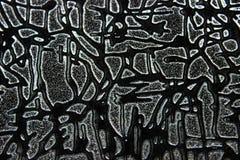 Abstrakcjonistyczna czarna grunge tekstura, b?d?ca ubranym stara powierzchnia zdjęcie stock