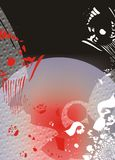 abstrakcjonistyczna czarny czerwień Obrazy Royalty Free