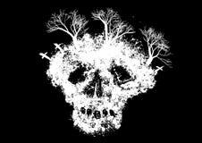 abstrakcjonistyczna czaszka Obrazy Royalty Free
