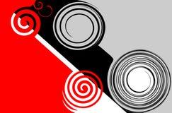 abstrakcjonistyczna czerń grey czerwień Fotografia Royalty Free