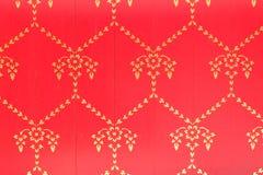 Abstrakcjonistyczna czerwień i złocisty retro tło Fotografia Royalty Free