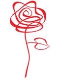 abstrakcjonistyczna czerwień wzrastał Fotografia Royalty Free
