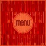 Abstrakcjonistyczna czerwona nowożytna restauraci lub kawiarni menu karta Zdjęcia Royalty Free