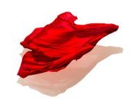 Abstrakcjonistyczna czerwona tkanina w ruchu Zdjęcia Stock