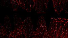 Abstrakcjonistyczna czysta czerwona macha 3D siatka lub siatka jako kreskówki tło Czerwony geometryczny rozedrgany środowisko lub ilustracja wektor