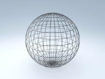 Abstrakcjonistyczna 3d sfera royalty ilustracja