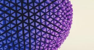 Abstrakcjonistyczna 3d sfera w futurystycznym stylu zdjęcia stock